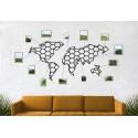 Metalowa mapa świata plaster miodu geometryczny