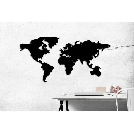 Metalowa mapa świata