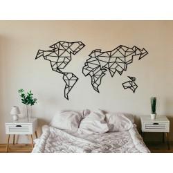 Metalowa mapa świata wysokiej jakości