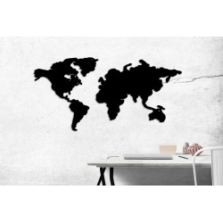 Metalowa mapa świata magnetyczna