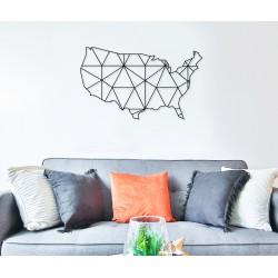 Metalowa mapa usa geometryczna