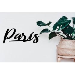 Metalowy napis Paris