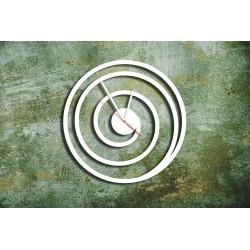 Biały Metalowy Zegar Ścienny